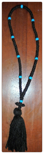 100 knot prayer rope (plastic beads)